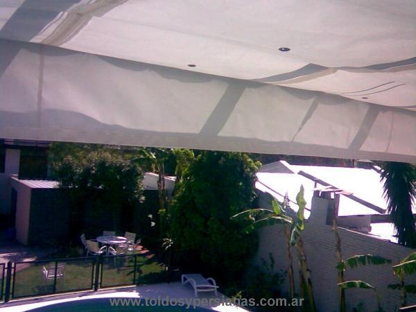toldo de patio lona acrilica extendido toldo